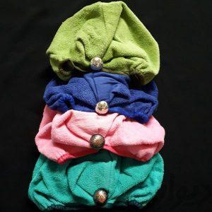 پخش انواع مختلف کلاه حوله ای زنانه